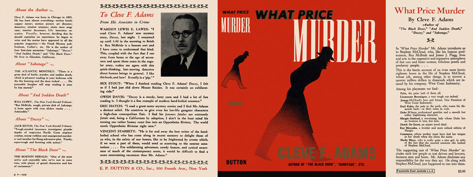 What Price Murder. Cleve F. Adams.
