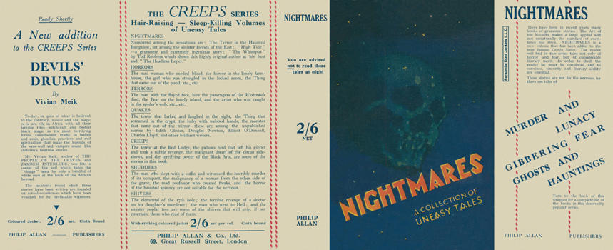 Nightmares, A Collection of Uneasy Tales. Charles Lloyd Birkin, Anthology