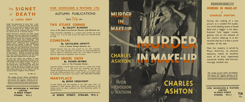 Murder in Make-Up. Charles Ashton