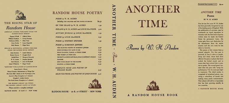 Another Time: Poems by W. H. Auden. W. H. Auden.