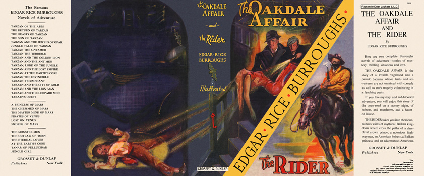 Oakdale Affair and The Rider, The. Edgar Rice Burroughs