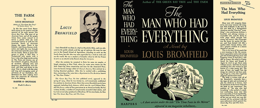 Man Who Had Everything, The. Louis Bromfield.