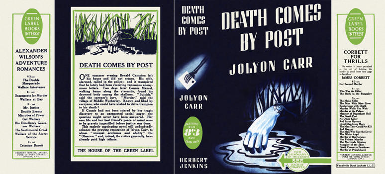 Death Comes by Post. Jolyon Carr.