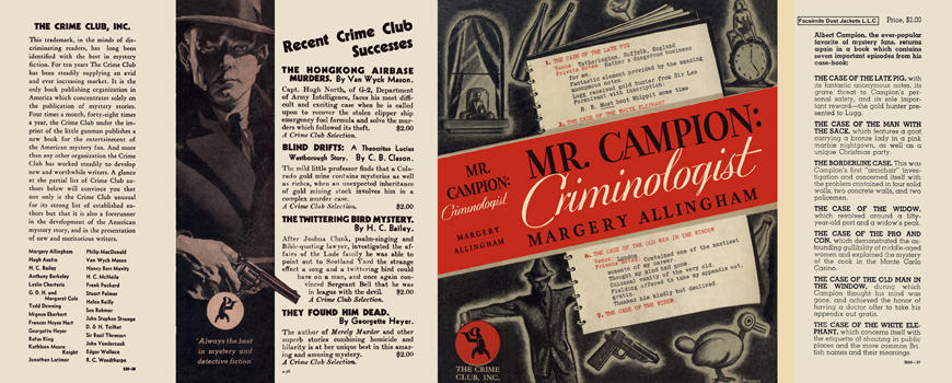 Mr. Campion: Criminologist. Margery Allingham