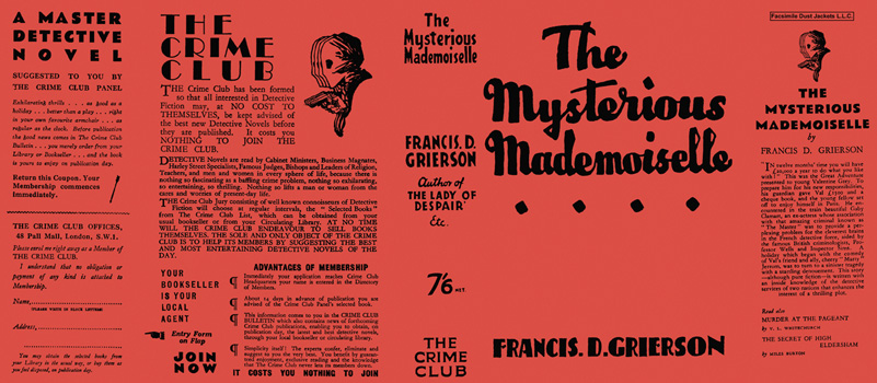 Mysterious Mademoiselle, The. Francis D. Grierson.