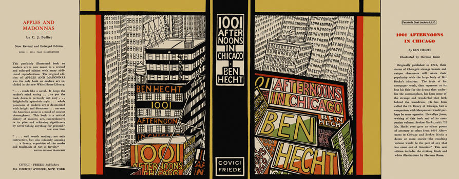 1001 Afternoons in Chicago. Ben Hecht.