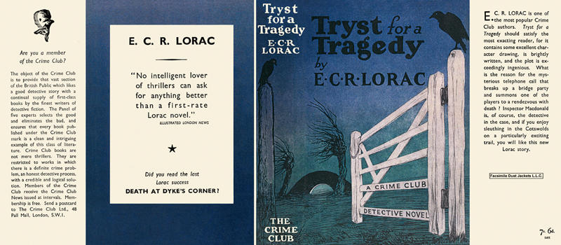 Tryst for a Tragedy. E. C. R. Lorac.