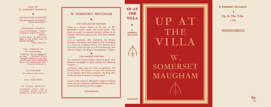 Up at the Villa. W. Somerset Maugham.
