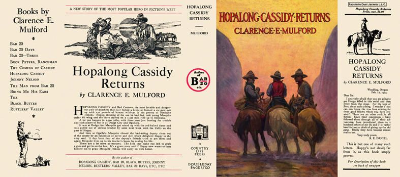 Hopalong Cassidy Returns. Clarence E. Mulford