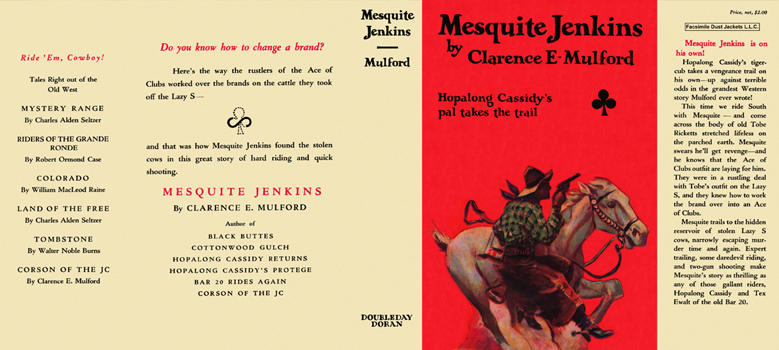 Mesquite Jenkins. Clarence E. Mulford