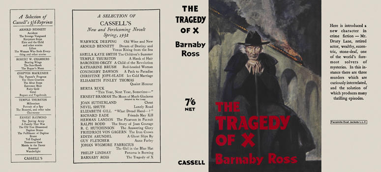 Tragedy of X, The. Barnaby Ross