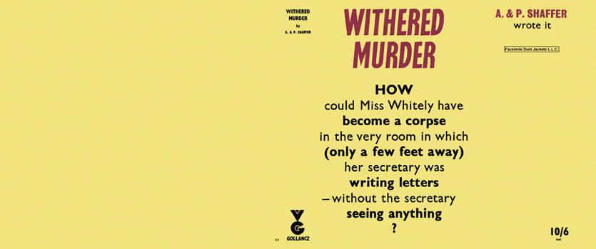 Withered Murder. Anthony Shaffer, Peter Shaffer.