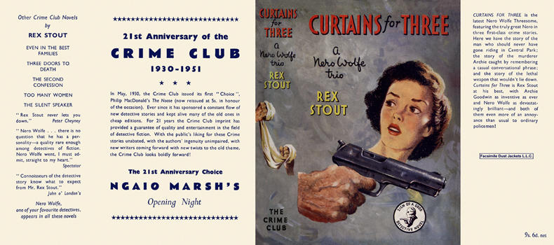Curtains for Three. Rex Stout