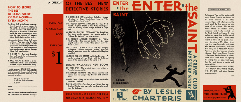 Enter the Saint. Leslie Charteris.