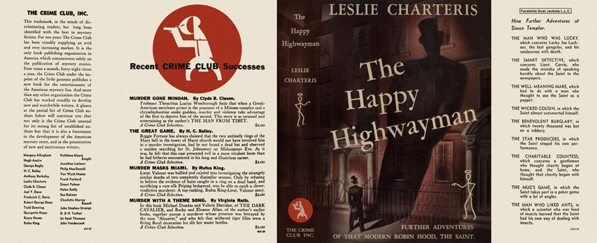 Happy Highwayman, The. Leslie Charteris.