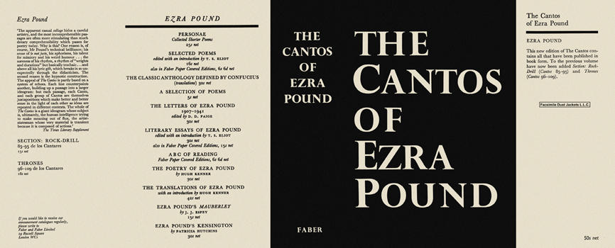 Cantos of Ezra Pound, The. Ezra Pound