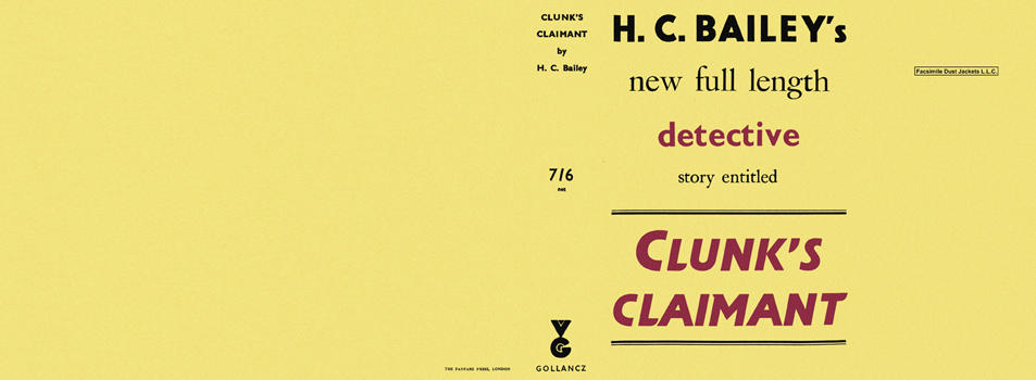 Clunk's Claimant. H. C. Bailey