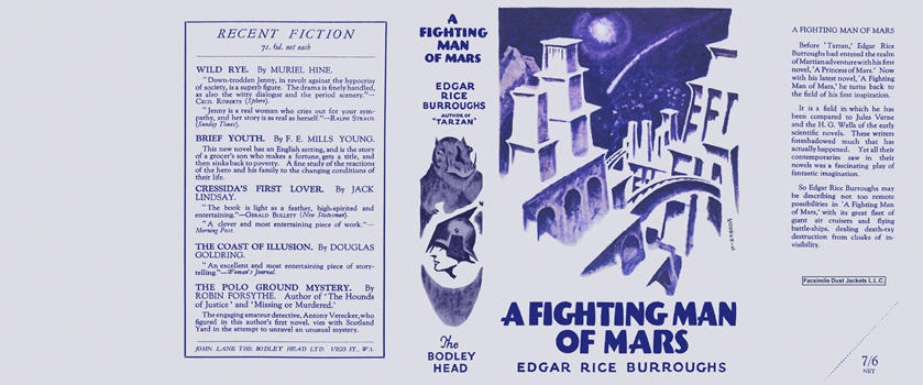 Fighting Man of Mars, A. Edgar Rice Burroughs.