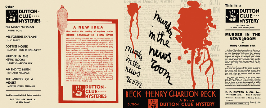 Murder in the News Room. Henry Charlton Beck