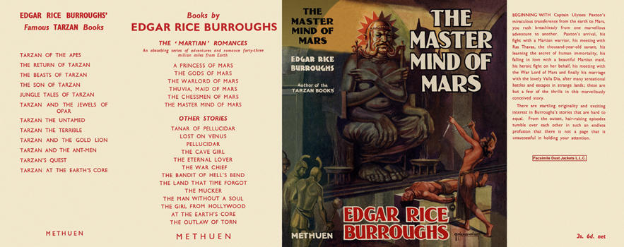 Master Mind of Mars, The. Edgar Rice Burroughs.