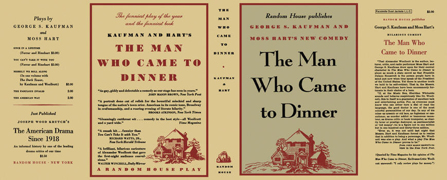 Man Who Came to Dinner, The. George S. Kaufman, Moss Hart