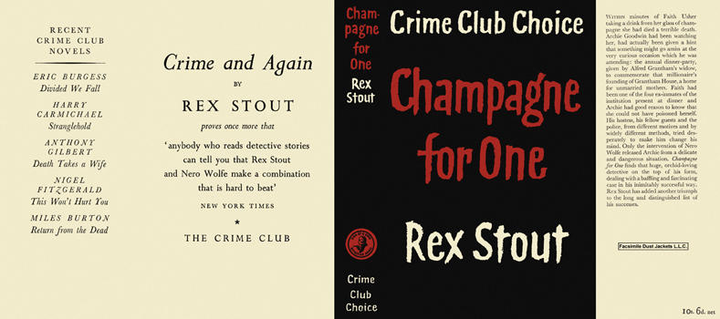 Champagne for One. Rex Stout.