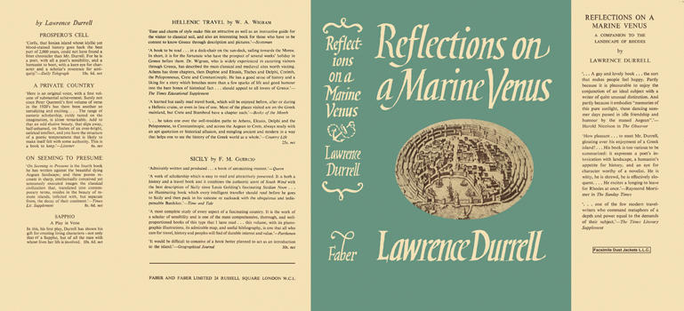 Reflections on a Marine Venus. Lawrence Durrell.