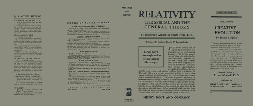 Relativity: The Special and the General Theory. Albert Einstein