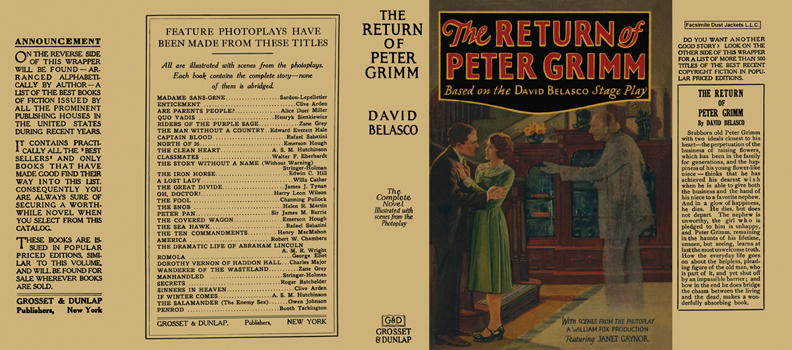 Return of Peter Grimm, The. David Belasco