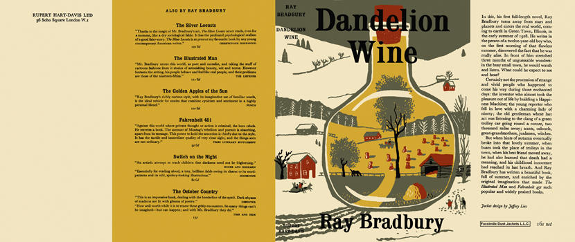 dandelion wine by ray bradbury essay  followed by the backstory: how he'd received a copy of an essay i'd  tops of  the titles, it eventually fell to ray bradbury's dandelion wine.
