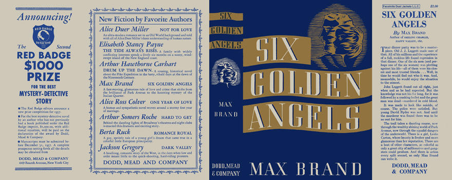 Six Golden Angels. Max Brand.