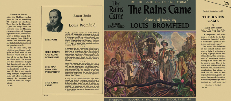 Rains Came, The. Louis Bromfield