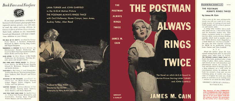 Postman Always Rings Twice, The. James M. Cain