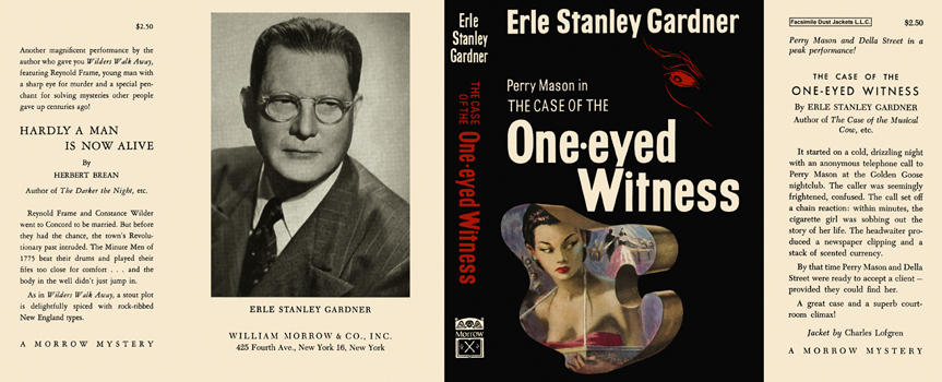 Case of the One-eyed Witness, The. Erle Stanley Gardner.