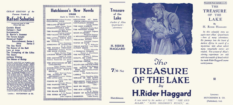 Treasure of the Lake, The. H. Rider Haggard