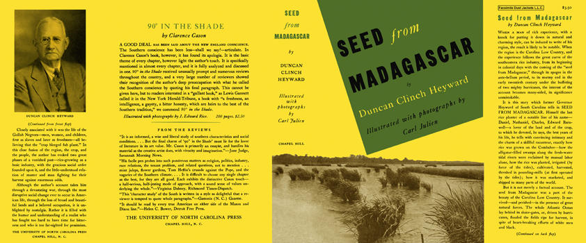 Seed from Madagascar. Duncan Clinch Heyward, Carl Julien