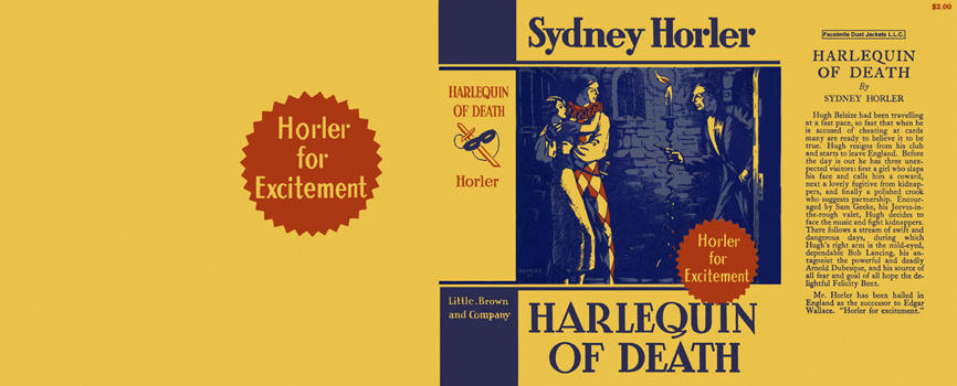 Harlequin of Death. Sydney Horler.