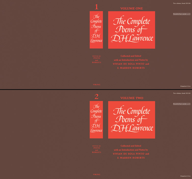 Complete Poems of, The (Volumes 1 and 2). D. H. Lawrence