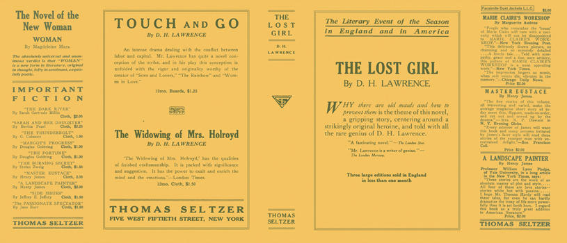 Lost Girl, The. D. H. Lawrence.