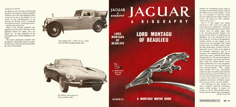 Jaguar, A Biography. Lord Montagu of Beaulieu