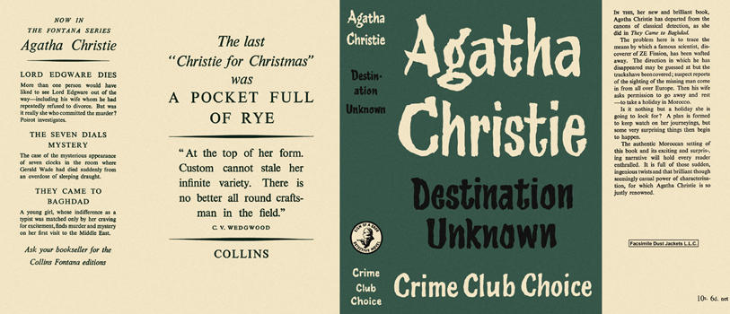 Destination Unknown. Agatha Christie.