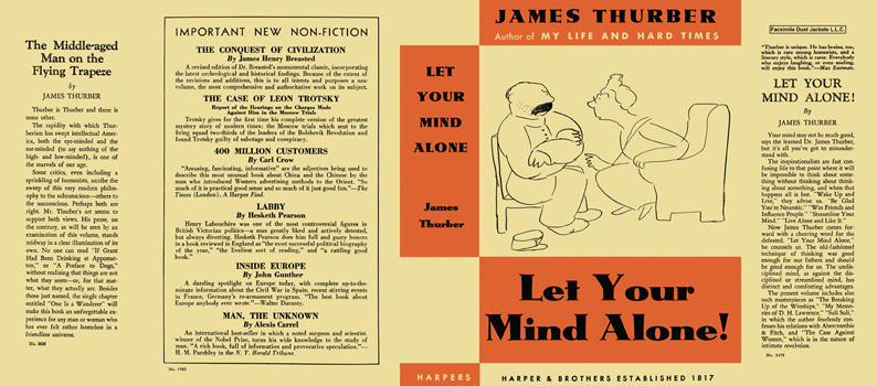 Let Your Mind Alone! James Thurber.