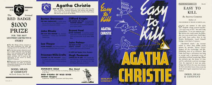 Easy to Kill. Agatha Christie.