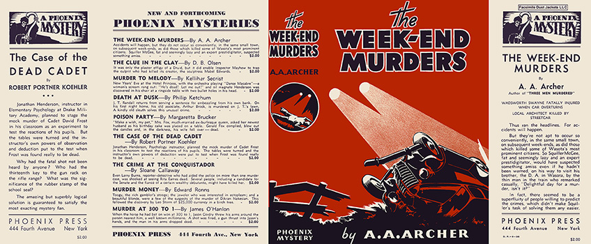 Week-End Murders, The. A. A. Archer.