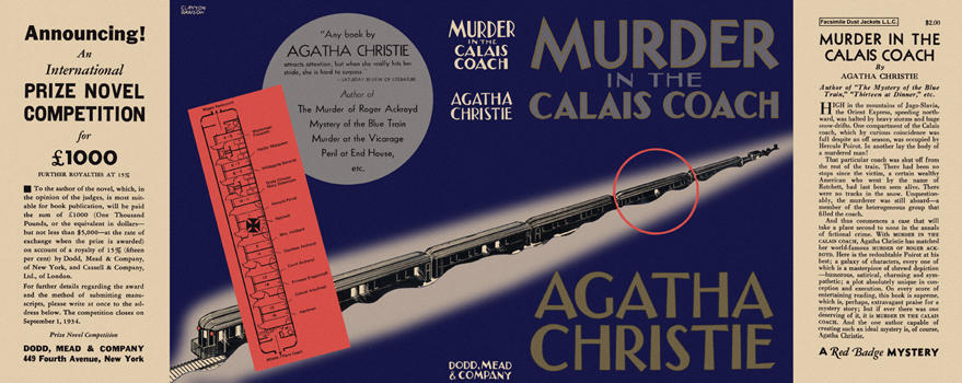Murder in the Calais Coach. Agatha Christie.