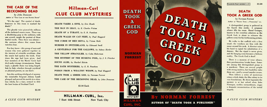 Death Took a Greek God. Norman Forrest.
