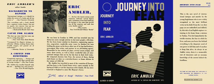Journey into Fear. Eric Ambler.