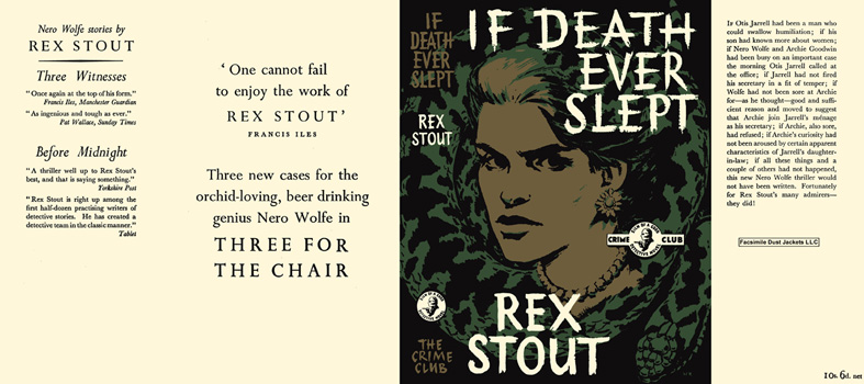 If Death Ever Slept. Rex Stout