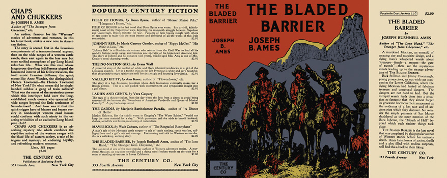 Bladed Barrier, The. Joseph B. Ames.