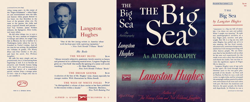 Big Sea, An Autobiography, The. Langston Hughes